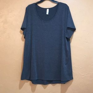 LuLaRoe Grey Scoop Neck Tee Shirt Size 3XL